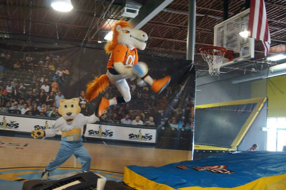 Denver Nuggets Mascot Slam Dunk
