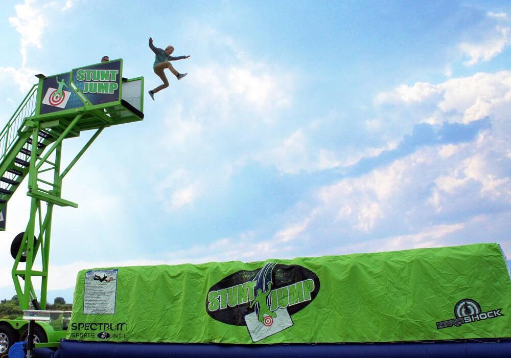 Spectrum Sports Stunt Jump inflatable stunt bag with platform